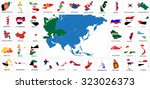 asia countries flag maps | Shutterstock .eps vector #323026373