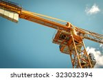 Yellow Crane In Blue Sky