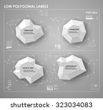 black and white low polygonal... | Shutterstock .eps vector #323034083