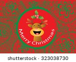 decorative christmas deer on... | Shutterstock .eps vector #323038730