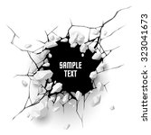 cracked hole with space for text | Shutterstock .eps vector #323041673