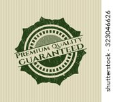 premium quality guaranteed... | Shutterstock .eps vector #323046626