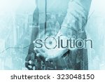 business concept   the solution ... | Shutterstock . vector #323048150