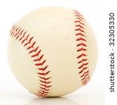 baseball isolated on white...   Shutterstock . vector #32305330