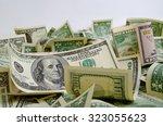 cash dollars lying on the plane.   Shutterstock . vector #323055623