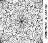 vector seamless monochrome... | Shutterstock .eps vector #323056400