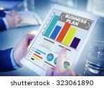 business plan graph... | Shutterstock . vector #323061890