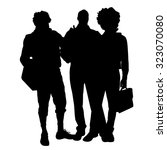 vector men silhouette on a... | Shutterstock .eps vector #323070080