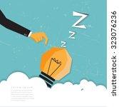 wake up thinking businessman.   Shutterstock .eps vector #323076236