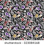 seamless flowers beautiful... | Shutterstock .eps vector #323084168