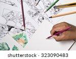 comic word in artistic... | Shutterstock . vector #323090483