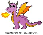 cute small dragon   vector... | Shutterstock .eps vector #32309791