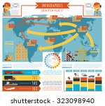 worldwide  cargo ... | Shutterstock . vector #323098940