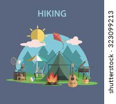 hiking and outdoor recreation... | Shutterstock . vector #323099213