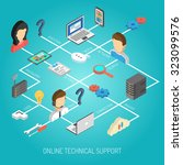 internet support concept with... | Shutterstock . vector #323099576