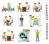 consulting practitioner doctor... | Shutterstock . vector #323099579
