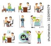consulting practitioner doctor... | Shutterstock . vector #323099579