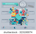 seo marketing infographics set... | Shutterstock . vector #323100074