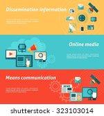 media horizontal banner set... | Shutterstock . vector #323103014