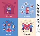 motherhood design concept set... | Shutterstock . vector #323104940