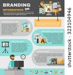 branding infographics set with...   Shutterstock . vector #323104946