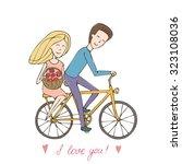 boyfriend gave the girl a... | Shutterstock . vector #323108036