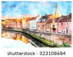 A Watercolour Painting Of...