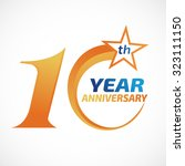 10 years anniversary template... | Shutterstock .eps vector #323111150