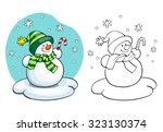 coloring book or page ... | Shutterstock .eps vector #323130374
