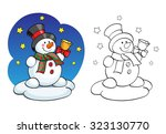 coloring book or page ...   Shutterstock .eps vector #323130770