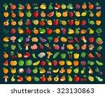 fruit and vegetables vector... | Shutterstock .eps vector #323130863
