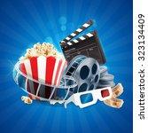 movie banner   Shutterstock .eps vector #323134409