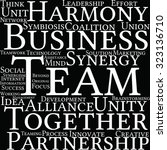 team word cloud on a black... | Shutterstock .eps vector #323136710