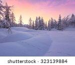 beautiful winter landscape with ... | Shutterstock . vector #323139884