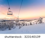 winter mountains panorama with... | Shutterstock . vector #323140139