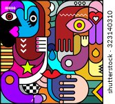 stained glass. abstract art... | Shutterstock .eps vector #323140310