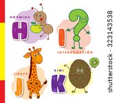 spanish alphabet. ant  question ... | Shutterstock .eps vector #323143538
