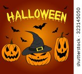 color graphics halloween... | Shutterstock .eps vector #323145050