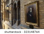 Small photo of LONDON, UK - OCTOBER 1ST 2015: A painting of Alfred Russel Wallace in the Natural History Museum in London, on 1st October 2015.