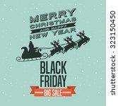 black friday design  vector...   Shutterstock .eps vector #323150450