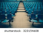 lecture chairs in a class room... | Shutterstock . vector #323154608