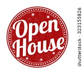 open house grunge rubber stamp... | Shutterstock .eps vector #323155826