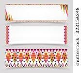 vector set of polygonal paper... | Shutterstock .eps vector #323156348