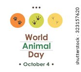 World Animal Day Dots Greeting...
