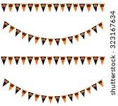black and orange pumpkins... | Shutterstock . vector #323167634