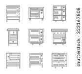 set of thin line design vector...