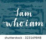 hand drawn vector lettering.... | Shutterstock .eps vector #323169848