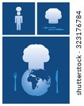 dinner and cooking vector icon... | Shutterstock .eps vector #323176784