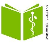 drug handbook vector icon.... | Shutterstock .eps vector #323181779