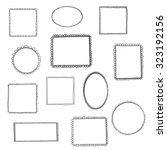 hand drawn simple frames set.... | Shutterstock .eps vector #323192156
